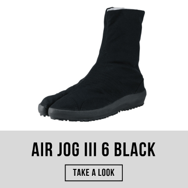 tabi shoes air jog iii 6 black marugo