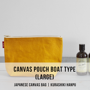 canvas pouch boat type large