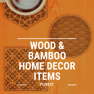 wood and bamboo home decor items forest