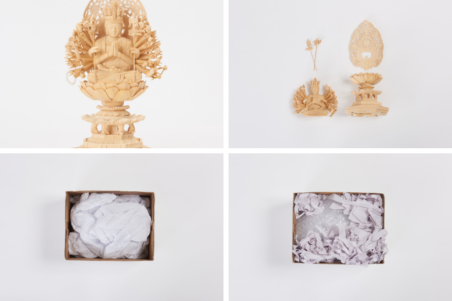 buddhist statues packaging