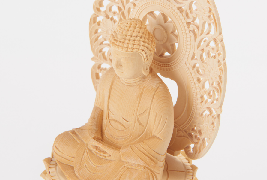 wooden buddhist statues
